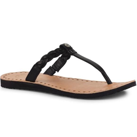 05bb3ec9b7b7b UGG Black Braided Leather Flip Flops. M 5ab1874a61ca10b764622ee2